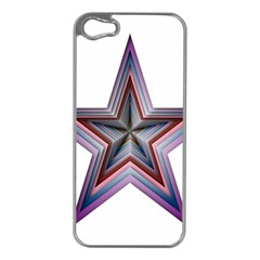 Star Abstract Geometric Art Apple Iphone 5 Case (silver)