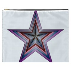 Star Abstract Geometric Art Cosmetic Bag (xxxl)