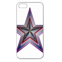 Star Abstract Geometric Art Apple Seamless Iphone 5 Case (clear)