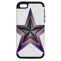 Star Abstract Geometric Art Apple Iphone 5 Hardshell Case (pc+silicone)