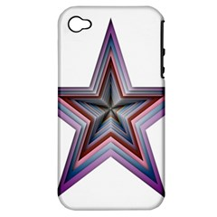 Star Abstract Geometric Art Apple iPhone 4/4S Hardshell Case (PC+Silicone)
