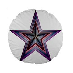 Star Abstract Geometric Art Standard 15  Premium Round Cushions