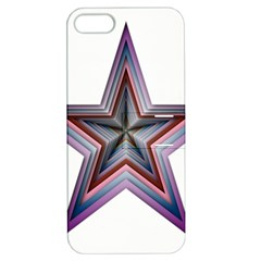 Star Abstract Geometric Art Apple iPhone 5 Hardshell Case with Stand