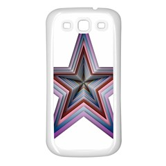 Star Abstract Geometric Art Samsung Galaxy S3 Back Case (white)
