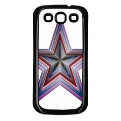 Star Abstract Geometric Art Samsung Galaxy S3 Back Case (black)