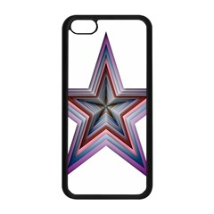 Star Abstract Geometric Art Apple Iphone 5c Seamless Case (black)