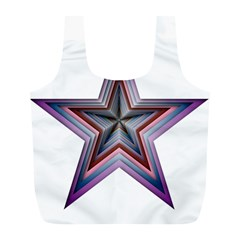 Star Abstract Geometric Art Full Print Recycle Bags (l)