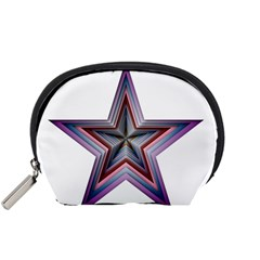 Star Abstract Geometric Art Accessory Pouches (small)