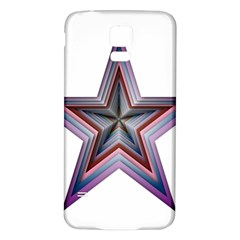 Star Abstract Geometric Art Samsung Galaxy S5 Back Case (white)