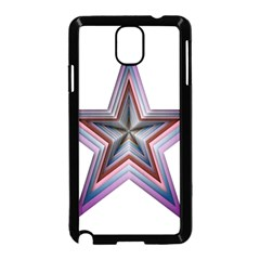 Star Abstract Geometric Art Samsung Galaxy Note 3 Neo Hardshell Case (Black)