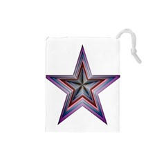 Star Abstract Geometric Art Drawstring Pouches (small)