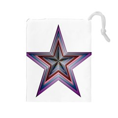 Star Abstract Geometric Art Drawstring Pouches (large)