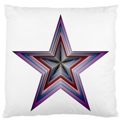 Star Abstract Geometric Art Large Flano Cushion Case (one Side)