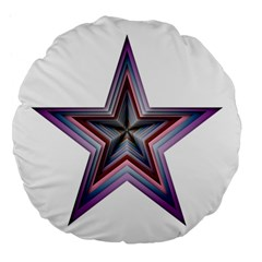 Star Abstract Geometric Art Large 18  Premium Flano Round Cushions
