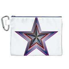 Star Abstract Geometric Art Canvas Cosmetic Bag (XL)