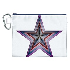 Star Abstract Geometric Art Canvas Cosmetic Bag (XXL)