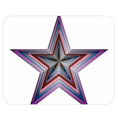 Star Abstract Geometric Art Double Sided Flano Blanket (Medium)
