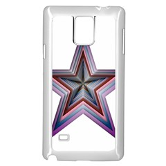 Star Abstract Geometric Art Samsung Galaxy Note 4 Case (White)