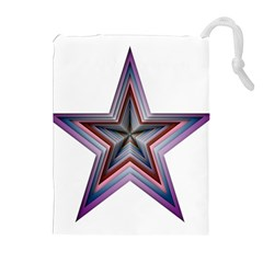 Star Abstract Geometric Art Drawstring Pouches (extra Large)