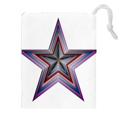 Star Abstract Geometric Art Drawstring Pouches (xxl)
