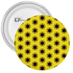 Yellow Fractal In Kaleidoscope 3  Buttons