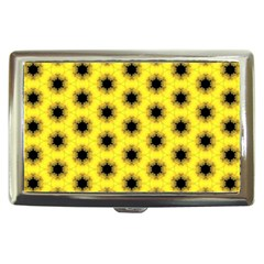 Yellow Fractal In Kaleidoscope Cigarette Money Cases