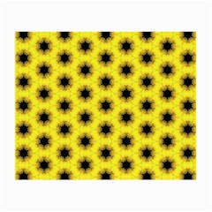 Yellow Fractal In Kaleidoscope Small Glasses Cloth