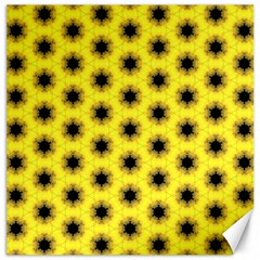 Yellow Fractal In Kaleidoscope Canvas 16  x 16