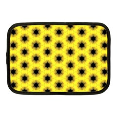 Yellow Fractal In Kaleidoscope Netbook Case (medium)