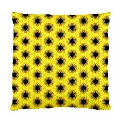 Yellow Fractal In Kaleidoscope Standard Cushion Case (two Sides)