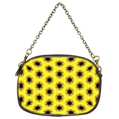 Yellow Fractal In Kaleidoscope Chain Purses (two Sides)