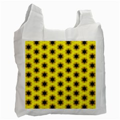 Yellow Fractal In Kaleidoscope Recycle Bag (Two Side)