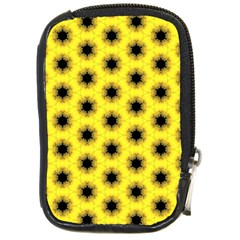 Yellow Fractal In Kaleidoscope Compact Camera Cases