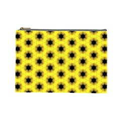 Yellow Fractal In Kaleidoscope Cosmetic Bag (large)