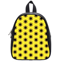 Yellow Fractal In Kaleidoscope School Bags (small)