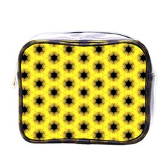 Yellow Fractal In Kaleidoscope Mini Toiletries Bags