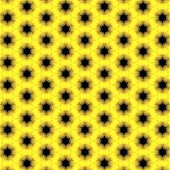 Yellow Fractal In Kaleidoscope Magic Photo Cubes