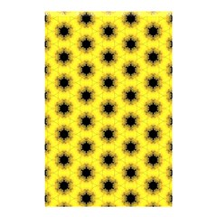 Yellow Fractal In Kaleidoscope Shower Curtain 48  X 72  (small)