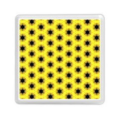 Yellow Fractal In Kaleidoscope Memory Card Reader (square)