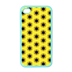 Yellow Fractal In Kaleidoscope Apple Iphone 4 Case (color)
