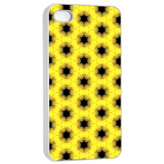 Yellow Fractal In Kaleidoscope Apple Iphone 4/4s Seamless Case (white)