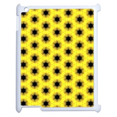 Yellow Fractal In Kaleidoscope Apple Ipad 2 Case (white)