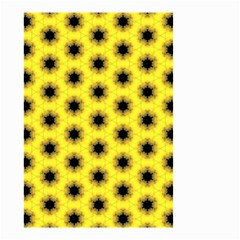 Yellow Fractal In Kaleidoscope Small Garden Flag (Two Sides)
