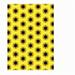Yellow Fractal In Kaleidoscope Large Garden Flag (Two Sides)