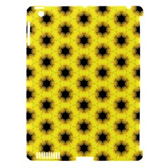 Yellow Fractal In Kaleidoscope Apple iPad 3/4 Hardshell Case (Compatible with Smart Cover)