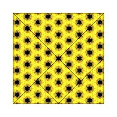Yellow Fractal In Kaleidoscope Acrylic Tangram Puzzle (6  X 6 )