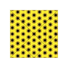 Yellow Fractal In Kaleidoscope Acrylic Tangram Puzzle (4  x 4 )