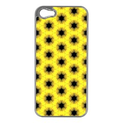 Yellow Fractal In Kaleidoscope Apple Iphone 5 Case (silver)