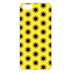 Yellow Fractal In Kaleidoscope Apple iPhone 5 Seamless Case (White)