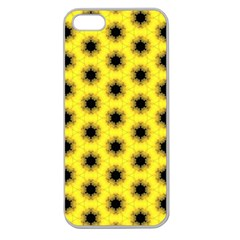 Yellow Fractal In Kaleidoscope Apple Seamless Iphone 5 Case (clear)